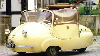 Winziges Nachkriegsfahrzeug: Das Treffen der Micro-Car-Fans in Wohlen vom 30. April bis 2. Mai ist weltweit das grösste seiner Art. (zvg)
