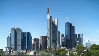 Das Bankenviertel in Frankfurt am Main.