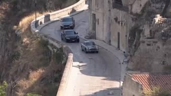 Bond-Film der anderen Art: So haben die Einwohner von Matera die Verfolgungsjagd festgehalten.