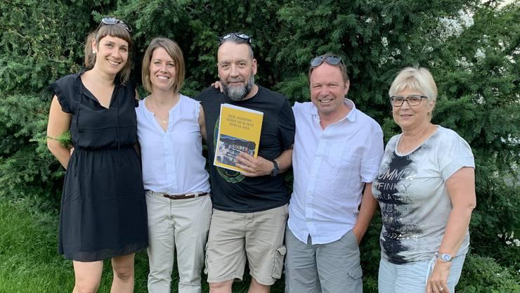 Das OK von links: Berit Ducommun, Fabienne Düggeli, Mike Rüeggsegger, Markus Schlup und Evelyne Schärer.