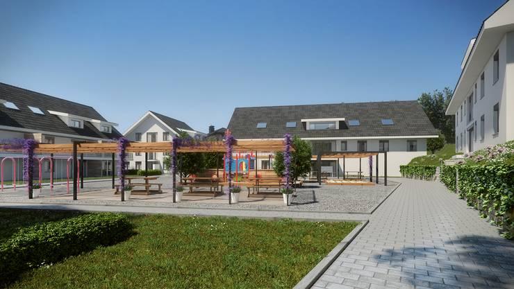In Birrhard entsteht an der Käsistrasse eine Überbauung von 9 Mehrfamilienhäusern.