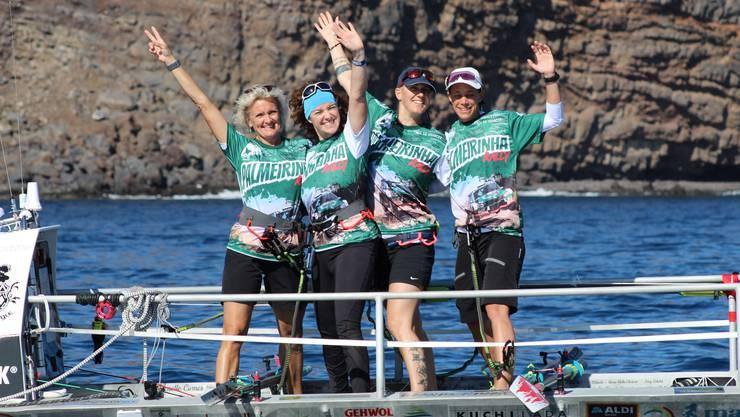 Die Boots-Crew mit von links: Tatiana Baltensperger, Astrid Schmid, Carla Lemm und Sandra Hönig.
