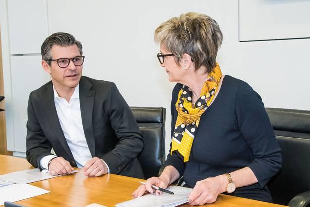 vlnr. John Häfelfinger, Elisabeth Schirmer