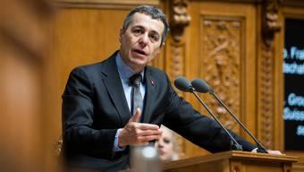 Bundesrat Ignazio Cassis findet, man müsse auch die Chancen nutzen, die sich in der Coronakrise ergeben.