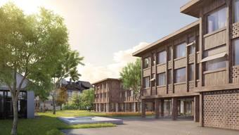 Das neue Alters- und Pflegeheim auf dem Höfli-Areal entsteht nach architektonischem Vorbild von Sophie Taeuber-Arp, der Frau auf der Fünfzig-Franken-Note.