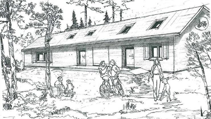 Der Dachstock des neuen Heims könnte zum Massenlager ausgebaut werden.