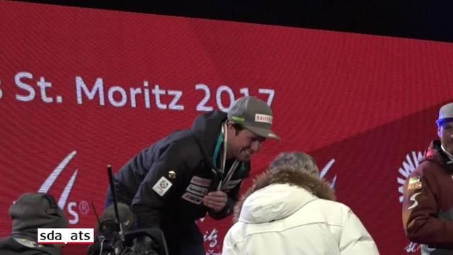 So feierte St. Moritz seinen Abfahrtshelden Beat Feuz