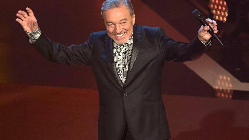 Schlagersänger Karel Gott im Jahr 2016 bei der Aufzeichnung der Sendung «Schlagerboom - Das internationale Schlagerfest». Der tschechische Sänger wurde am Sonntag 80 Jahre alt.