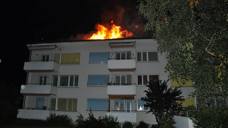 Brand Mehrfamilienhaus in Bettlach