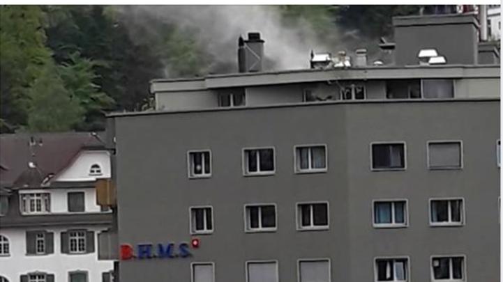Brand im Gebäude der Hotelfachschule BHMS