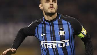 Inter Mailands Doppeltorschütze Mauro Icardi