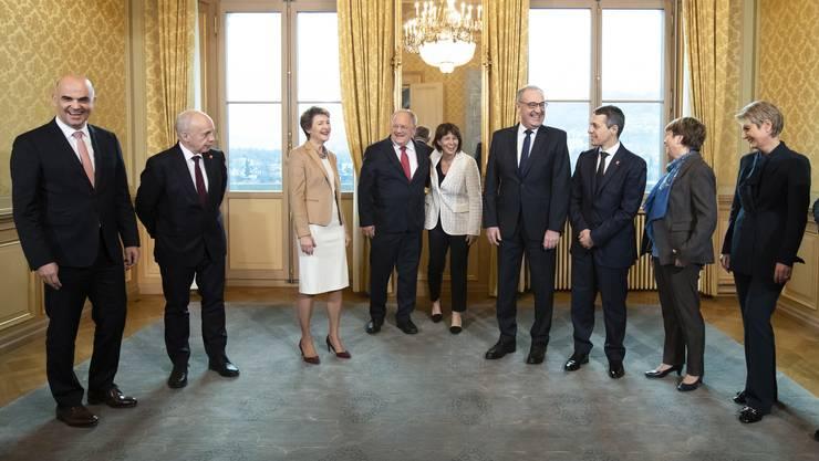 Da lacht er noch. Doch heute wird es ernst für den Bundesrat – er muss sich mit dem EU-Rahmenabkommen befassen.