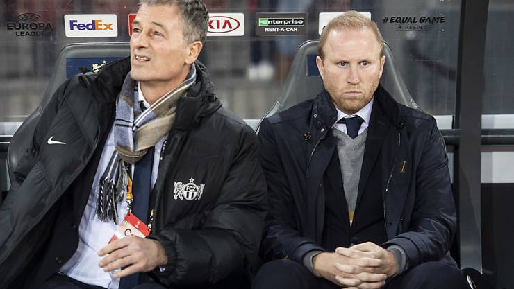Thomas Bickel und Ludovic Magnin gefällt nicht, was sie in Luzern zu sehen bekommen