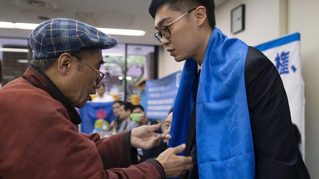 Wurde am Freitag in Hongkong festgenommen: der Anti-China-Aktivist Andy Chan. (Archivbild)