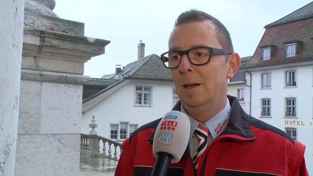 Boris Anderegg, Kommandant der Feuerwehr Solothurn: «Für uns ist die Feier wie ein Abschluss»