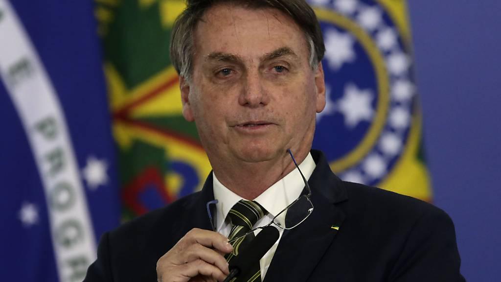 Der brasilianische Präsident Jair Bolsonaro verliert ein weiteres Mitglied seines Kabinetts. (Archivbild)