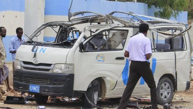Ein Attentäter hatte den Mini-Bus in die Luft gesprengt