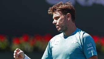 Stan Wawrinka spielt am Sonntag um seinen zweiten ATP-1000-Titel
