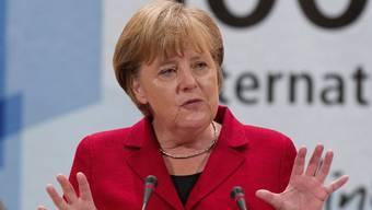 Angela Merkel spricht in Genf