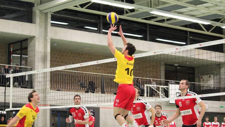 Kaspar Bürge war der Zuspieler am Samstag. Letzte Saison spielte er noch beim ehemaligen Spitzenklub Lugano.
