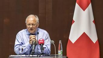 Bundesrat Johann N.    Schneider-Ammann ist enttäuscht über die Gesprächsabsage der Gewerkschaften.