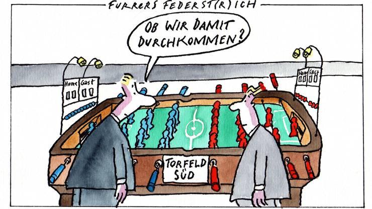 Jürg Furrer hatte schon früh Bedenken, ob das neue FCA-Stadion realisiert wird