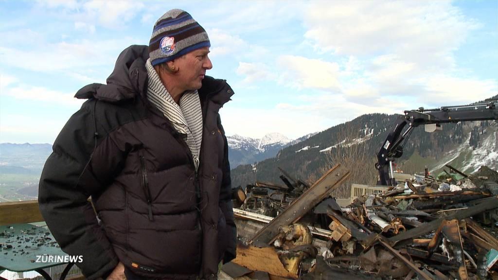 Nach Brand am Fronalpstock: Gasthaus-Besitzer gibt nicht auf