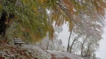 Der erste Schnee der Saison im Oberbaselbiet
