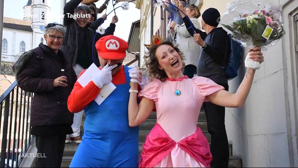 Aarburg: Super Mario heiratet seine Prinzessin Peach