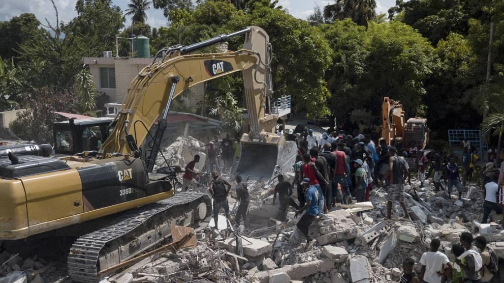 Aargau spendet 50'000 Franken an die Opfer des Erdbebens in Haiti