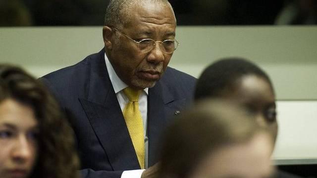 Der frühere liberianische Präsident Charles Taylor in Den Haag