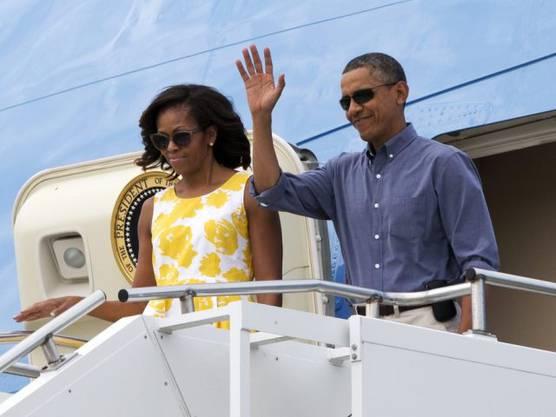 US-Präsident Obama und seine Frau Michelle verreisen in die Ferien