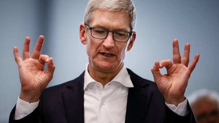 Sein Unternehmen wäre von einem Handelskrieg zwischen den USA und China betroffen: Apple-Chef Tim Cook. (Archivbild)