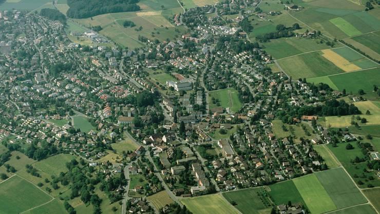 Oberrohrdorf aus der Vogelperspektive. Archiv