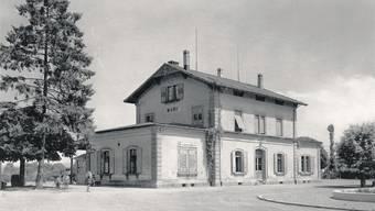 Die «protestantische Mobilität» ins Freiamt wurde auch durch die 1875 eröffnete Südbahn gefördert. Das Stationsgebäude Muri mit Bahnhofbuffet wurde in dieser Zeit erbaut. zvg/Archiv