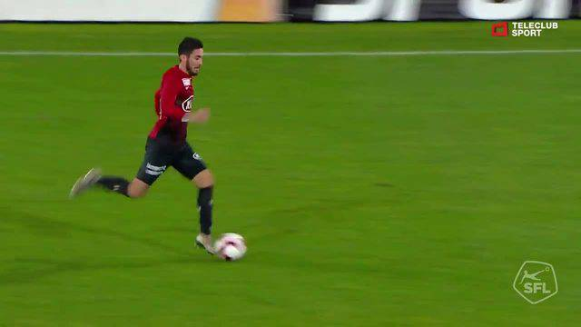 Challenge League 2018/19, Runde 17, FC Aarau - Vaduz, 3:1 von Petar Misic