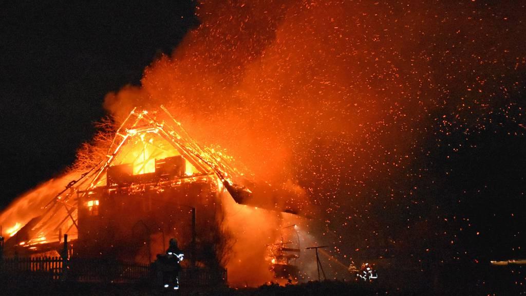Bauernhaus in Beromünster in Brand geraten