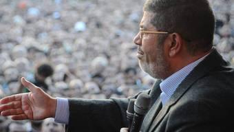 Unter Druck: Der ägyptische Präsident Mohammed Mursi (Archiv)