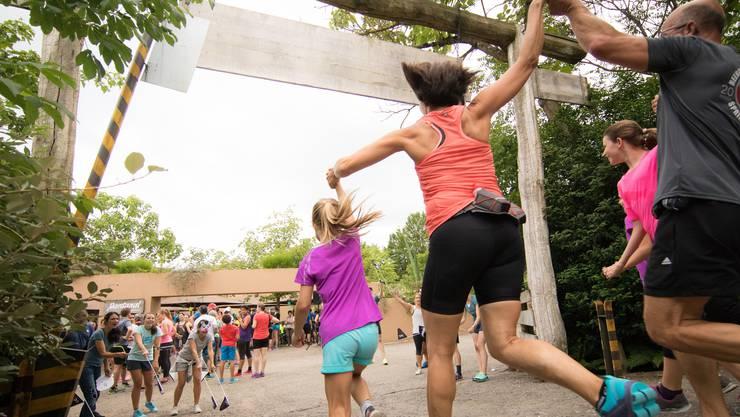 On Zoo Run 2017, Zieleinlauf.