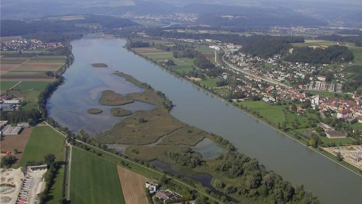 Er befindet sich kurz vor der Mündung der Aare in den Rhein in Koblenz. Er ist 1.5 km² gross und wurde 1935 erbaut.