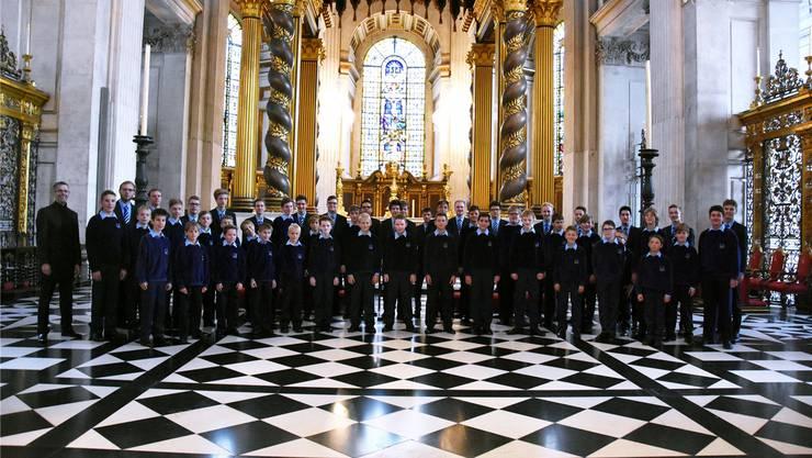 Die Singknaben gastierten unter anderem auch mit dem Evensong in der berühmten St. Paul's Cathedral von London.