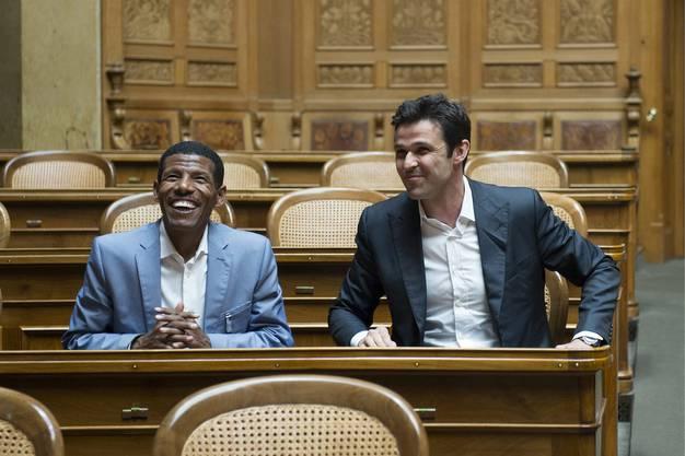 Haile Gebrselassie besucht das Bundeshaus