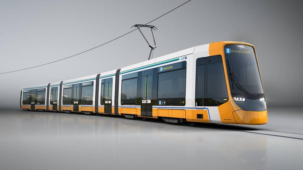 Die neuen Strassenbahnen werden gemäss Vertrag ab Mitte 2022 in den Fahrgastbetrieb gehen