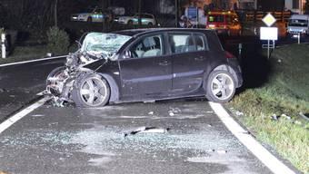Der Renault-Fahrer musste per Helikopter ins Spital geflogen werden.