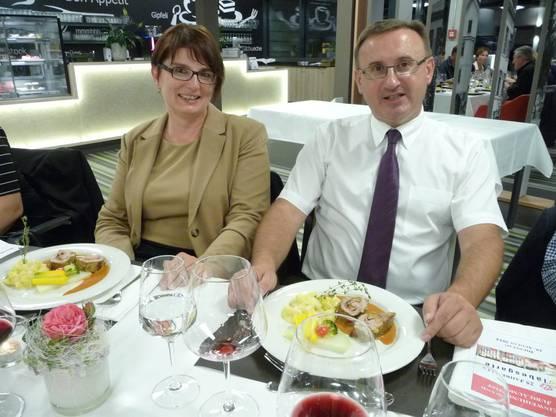 Zufriedene Gastgeber, Dobrila und Sascha Gelbhaus