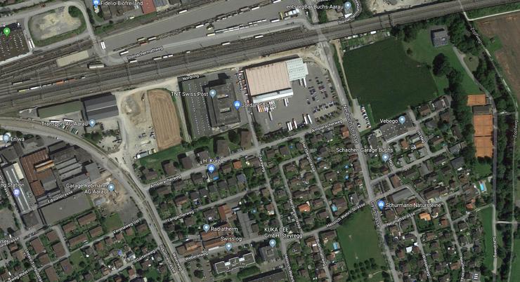 Gebiet, auf welchem die Bombe entschärft wurde.