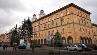Das bisherige Botschaftsbüro der Schweiz in Weissrusslands Hauptstadt Minsk. Daselbst ist auch Bulgariens Botschaft untergebracht.