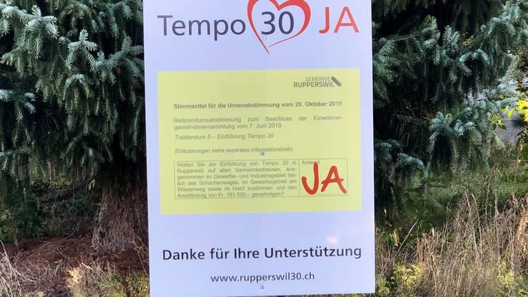Ja zu Tempo 30 in Rupperswil!
