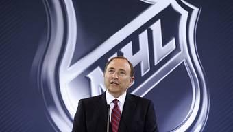 Die NHL-Spieler müssen bei den Olympischen Spielen 2018 zuschauen. Im Bild: NHL-Boss Gary Bettman.