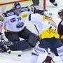 Daniel Manzato, Spengler-Cup-Held, führte den HC Ambri-Piotta in Genf zu einem wichtigen Auswärtssieg im Rennen um einen Playoff-Platz